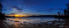 Winter sunset on Lake of Neuchâtel (Switzerland) (christian.rey) Tags: lacdeneuchâtel lake neuchâtel see neueuburgersee sunset coucherdesoleil corbière plage estavayerlelac panorama landscape paysage sony alpha 77 1650 assemblage broye fribourg swiss