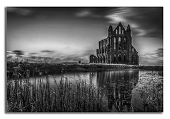 Whitby Abbey. (Ian Emerson) Tags: whitby abbey northyorkshire yorkshire architecture stonework dracula heritage benedictine 657ad diocese york gothic bramstoker hoya ndx400 water reflection windows history outdoor landscape longexposure omot