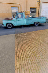 TurquoiseTruck (Dave Obuck - Skypuff) Tags: ford truck vintage turquoise pickup f100 tacoma june2015