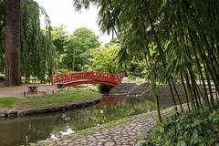 Jardin japonais (sosivov) Tags: bridge red paris green museum garden muséealbertkahn