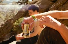 (Sean Gilchrist) Tags: light arizona portrait sun sunlight guy film nature beer analog 35mm canon vintage kodak hiking cigarette smoke az guys hike smoking lightleak nostalgia camel american 35mmfilm americana canonae1 canonae1program coors kodakportra analogonly