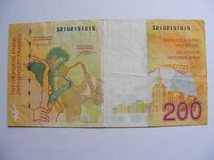 Belgian Banknote Francs (seanfderry-studenna) Tags: money paper europe european belgium belgique belgie bank cash note 200 belgian 100 500 20 currency francs banknote numismatics