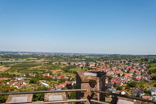 Vue sur Ortenberg depuis le Château d'Ortenberg