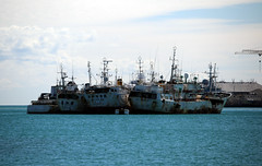 Mauritius: Illegal Chinese Fishing Boats (Ali Bentley) Tags: ocean africa island indian indianocean mauritius fishingboat portlouis fishingship caudanwaterfront port louis illegalfishing