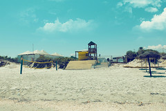 Volleyball. (Philipp Sarmiento) Tags: ocean africa travel blue sky hot love beach photography tunisia philipp sarmiento fujifilmx30