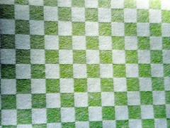 Japanese folk art paper 2 (tengds) Tags: handmadepaper japanesepaper japanesefolkartpaper japanesetissue texturedtissue checkeredpattern white mintgreen washi chiyogami tengds