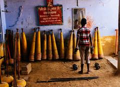 Boy in gym (jamiemackiephotography) Tags: india travel varanasi kushti wrestling akhara gym street boy clubs mirror relfection