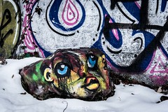 """stone face"" (nelly_tran_photography) Tags: 2016 streetart streetcast streetfotografie zürich photography nikon d610 graffity"