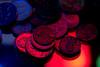 Pocket Change (adamopal) Tags: canon canon7d canon7dmkii bullets pocketchange change money currency adaptalux adaptaluxlighting longexposure longexposureexperiment experiment macro macro180mm 180mm multicolor black red blue