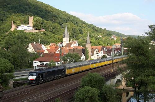 TXL ES 64 F4-027 ARS Altmann Autozug, Gemünden am Main