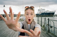 14650012 (Sam Wheatman) Tags: summer shocked scared seaside harwich marina boats port sunglasses sun pier ferry