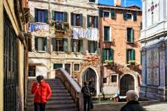 In the sestiere of Cannaregio, (Tigra K) Tags: venezia veneto italy it venice 2014 architecture balcony bridge church city fabric plant river ruin stairs