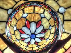 Crystal Ball (clarkcg photography) Tags: glass globe orb round 5inch stainglass distort flickrfriday crystalball seethrough