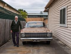 Maidstone (Westographer) Tags: maidstone melbourne australia westernsuburbs suburbia portrait ford fordfalcon500 parked oldschool driveway