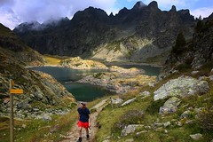 Friend trip through mist & light #1 (Mist&Light) Tags: lac robert lake belledonne chamrousse isère alps alpes mountain montagne hiking