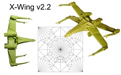 X-Wing v2.2 new fold (Mdanger217) Tags: max danger origami xwing v22 cp