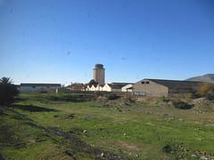 Farm and silo, from railway west of Fez, Morocco (Paul McClure DC) Tags: morocco fez almaghrib dec2016 scenery fèsmeknèsregion