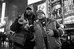 Two L's Up (bw) (Brotha Chris) Tags: event eventphotographer photoart polo hiphop culture love art style 42ndstreet 42nd timessquare nyc midtown manhattan portrait portraiture canon outdoor outdoors rap fly goose clothes ralphlauren lauren horse gathering