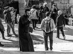 Father Selfie (Javiralv) Tags: orthodox priest selfie father greece grecia athens atenas black white blanco negro