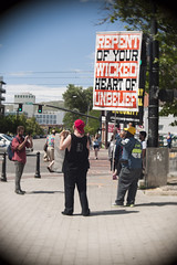 Prideful Protesters (Avintiquin) Tags: festival digital lens lumix utah f14 pride cctv panasonic adapter slc bleh 25mm 2015 m43 lgbtqia gf2 avintiquin