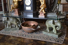 """Glass Top Coffee Table w/ Bronze Elephants • <a style=""""font-size:0.8em;"""" href=""""http://www.flickr.com/photos/51721355@N02/18467185991/"""" target=""""_blank"""">View on Flickr</a>"""