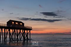 Time To Wake Up Belmar NJ. (JPMulhearn) Tags: moon beach sunrise pier nikon nj shore jersey belmar jerseyshore d7100