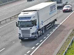 MXZ 3993 (Cammies Transport Photography) Tags: road park truck malcolm lorry dk carlisle m6 flyover scania sawyers 3993 mxz r450 mxz3993