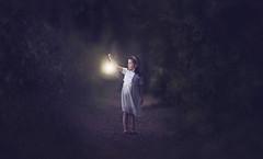 Alone in the woods (Wojtek Piatek) Tags: ireland light portrait dublin topf25 lamp girl forest dark lost woods alone child sony magic fear small 100v10f lantern scared portret enchanted raheny saintannespark zeiss135 sonya99