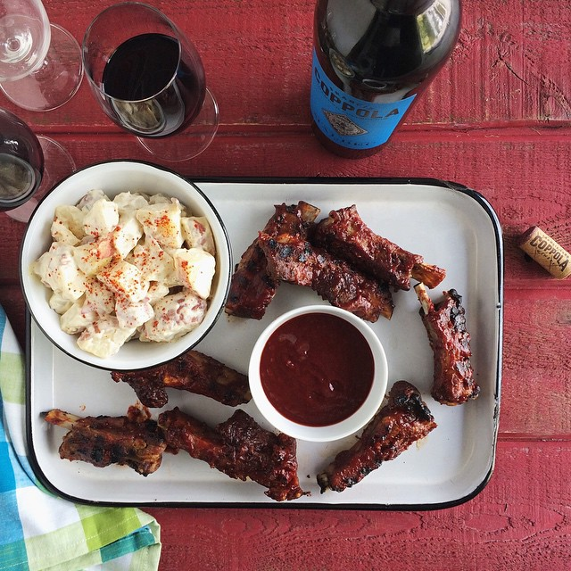 Crazy good ribs and @coppolawine Malbec on Chez Us today just in time for Fathers Day as well as the first day of summer. #chezuseats