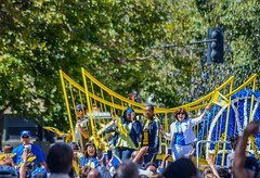 a very happy new mayor of oakland (pbo31) Tags: california color green basketball june yellow oakland nikon downtown mayor crowd broadway parade celebration motionblur bayarea eastbay float nba champions alamedacounty d800 tickertape 2015 goldenstatewarriors boury pbo31 libbyschaaf