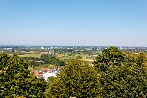 Vue sur Strasbourg depuis le Château d'Ortenberg