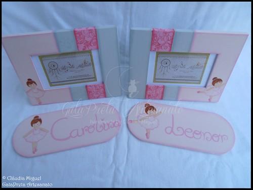 """Molduras e placas de porta """"Bella Ballerina"""""""