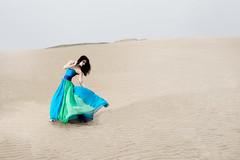 H.Yamaguchi #150 (HarQ Photography) Tags: blue portrait woman japan sand dress dune fujifilm xt1 bestportraitsaoi xf1655mmf28rlmwr