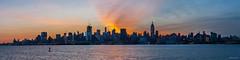 Fire in the sky (dansshots) Tags: nyc newyorkcity morninglight manhattan hudsonriver bigsky d3 fireinthesky beforesunrise panorma earlymorninglight fierysky nycpanorama beforethesunrises newyorkcitypanorama nikond3 dansshots