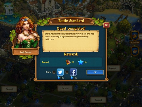 The Tribez & Castlez - Play with friends! Social, Rewards: screenshots, UI