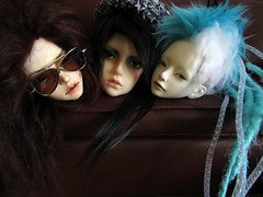 Heads (tarengil) Tags: boy girl asian glasses doll head couch sd wig luv bjd abjd vivien reminisce nyx limos elfdoll dollmore zaoll