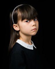 Alyzza (rifqi dahlgren) Tags: portrait girl child schoolgirl boardingschool strict serious strobist x100s tclx100