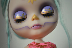 Regal Calavera Girl (lolidolicustoms) Tags: blythe doll takara ooak custom commission lolidoli calavera dead gold lilac