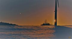 Mehrfachbelichtung Windrad (Argentarius85) Tags: nikon d5300 35mm double exposure mehrfachbelichtung winter windrad schnee sonnenuntergang mond