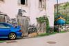 Contrasts (freyavev) Tags: contrast contrasts bluecar car boat blueboat house facade shabby madeira madeiraisland island portugal caniço canico madeiradetails vsco canon canon700d
