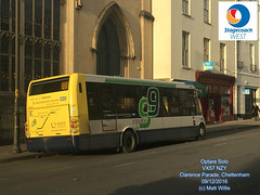 STAGECOACH WEST CHELTENHAM OPTARE SOLO VX57 NZY CLARENCE PARADE CHELTENHAM 09122016 (MATT WILLIS VIDEO PRODUCTIONS) Tags: stagecoach west cheltenham optare solo vx57 nzy clarence parade 09122016