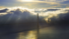 Moody Goldie (pixelmama) Tags: california pixelmama marinheadlands hawkhill marin sanfrancisco longexposure fog sunbeams golden gate bridge thatsfbridge goldengatebridge sausalito moodygoldie mistyfoggymilkymoody