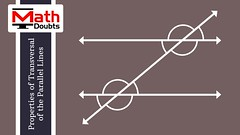 Properties of Corresponding angles transversal of the parallel lines (Math Doubts) Tags: correspondingangles transversal transversalparallellines transversalproperties geometry mathematics mathdoubts correspondinganglestransversal correspondinganglestransversalparallellines