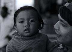 Proud daddy - Pokhara, Nepal (Tocsy) Tags: bw streetphotography nepalese people nepali nepal pokhara travel canon6d family