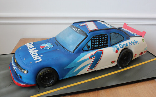 Sculpted Race Car Cake