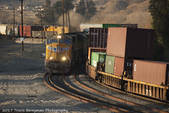 Rolling meet between El Casco and Ordway, CA (Travis Berryman) Tags: unionpacific beaumonthill uprr upyumasub desertrailroading