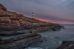 Tarbat Ness Dawn (bradders29) Tags: dawn tarbatness lighthouse coast rocks scotland clouds colours grahambradshaw