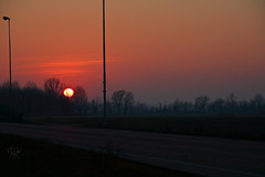 light (lightsaber*) Tags: sunset tramonto light dark evening red road strada way path landscape sky where is winter lost