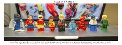 [DC] The Flash Family (| Jonathan |) Tags: thawne thaddeus lego flash family dc comics custom figbarf purist jay garrick max mercury black racer bart allen kid barry police detective ring fastback zoo crew convergence that blue turtle wally west inertia superheroes jesse quick