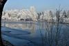 Fischweiher bei Olching (Pixelkids) Tags: weiher winter rauhreif frost fischweiher olching bayern deutschland spiegelung